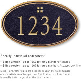 Salsbury 1430BGGS Signature Series Address Plaque