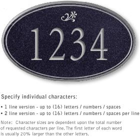 Salsbury 1430BSDS Signature Series Address Plaque