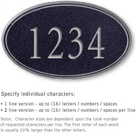 Salsbury 1430BSNS Signature Series Address Plaque