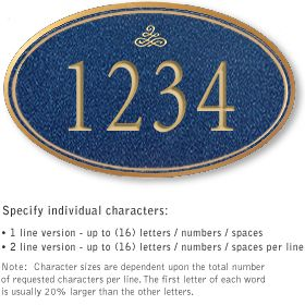 Salsbury 1430CGIS Signature Series Address Plaque