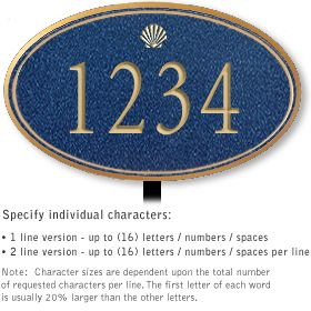 Salsbury 1430CGSL Signature Series Address Plaque