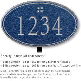 Salsbury 1430CSGL Signature Series Address Plaque