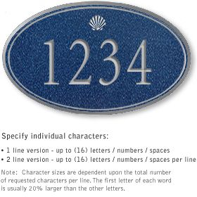 Salsbury 1430CSSS Signature Series Address Plaque