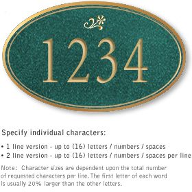 Salsbury 1430JGDS Signature Series Address Plaque