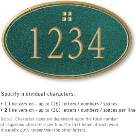 Salsbury 1430JGGS Signature Series Address Plaque