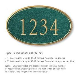 Salsbury 1430JGNS Signature Series Address Plaque