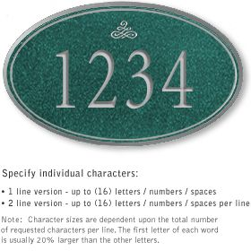 Salsbury 1430JSIS Signature Series Address Plaque