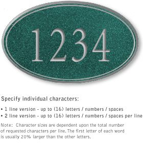 Salsbury 1430JSNS Signature Series Address Plaque