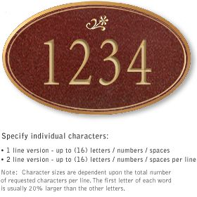 Salsbury 1430MGDS Signature Series Address Plaque