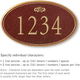Salsbury 1430MGFS Signature Series Address Plaque