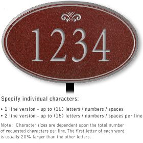 Salsbury 1430MSFL Signature Series Address Plaque