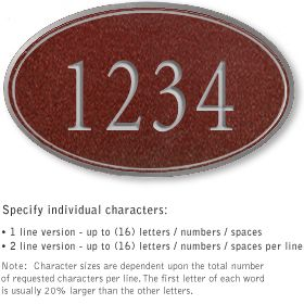 Salsbury 1430MSNS Signature Series Address Plaque