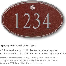 Salsbury 1430MSSS Signature Series Address Plaque