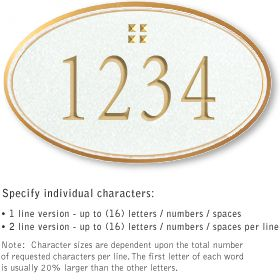 Salsbury 1430WGGS Signature Series Address Plaque