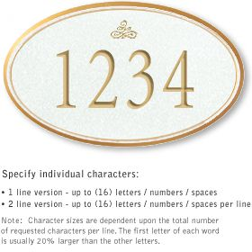 Salsbury 1430WGIS Signature Series Address Plaque