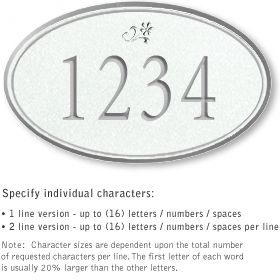 Salsbury 1430WSDS Signature Series Address Plaque