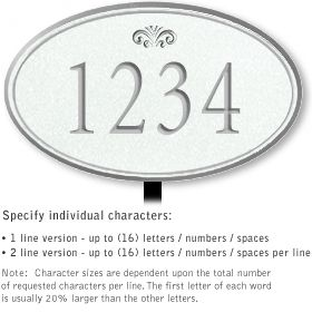 Salsbury 1430WSFL Signature Series Address Plaque