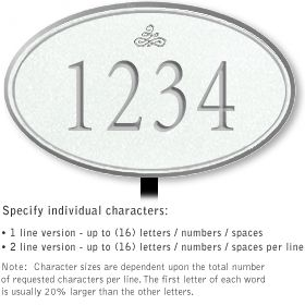 Salsbury 1430WSIL Signature Series Address Plaque