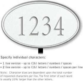 Salsbury 1430WSNL Signature Series Address Plaque