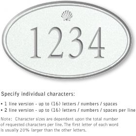 Salsbury 1430WSSS Signature Series Address Plaque