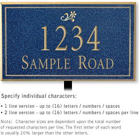 Salsbury 1412CGDL Signature Series Address Plaque
