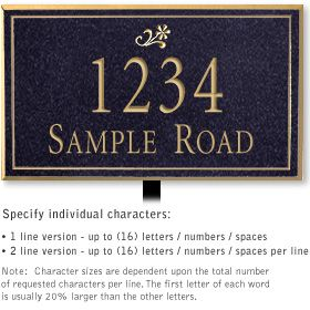 Rectangular Medium Lawn Plaques