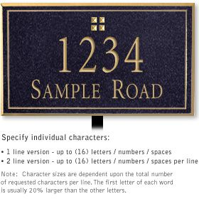Salsbury 1411BGGL Signature Series Address Plaque