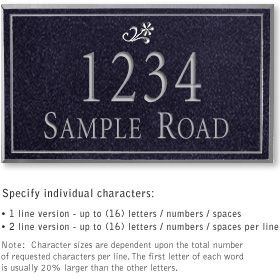Salsbury 1411BSDS Signature Series Address Plaque