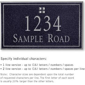 Salsbury 1411BSGS Signature Series Address Plaque