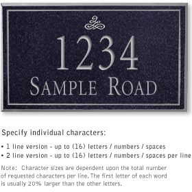 Salsbury 1411BSIS Signature Series Address Plaque