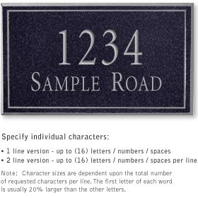 Salsbury 1411BSNS Signature Series Address Plaque