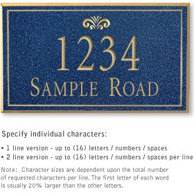 Salsbury 1411CGFS Signature Series Address Plaque