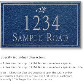 Salsbury 1411CSDS Signature Series Address Plaque