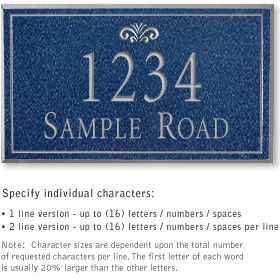Salsbury 1411CSFS Signature Series Address Plaque