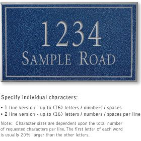Salsbury 1411CSNS Signature Series Address Plaque