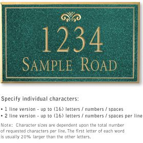 Salsbury 1411JGFS Signature Series Address Plaque