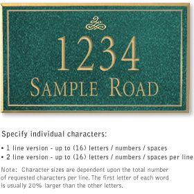 Salsbury 1411JGIS Signature Series Address Plaque
