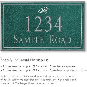 Salsbury 1411JSDS Signature Series Address Plaque