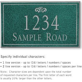 Salsbury 1411JSFS Signature Series Address Plaque