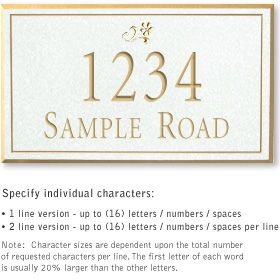 Salsbury 1411WGDS Signature Series Address Plaque
