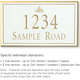 Salsbury 1411WGIS Signature Series Address Plaque