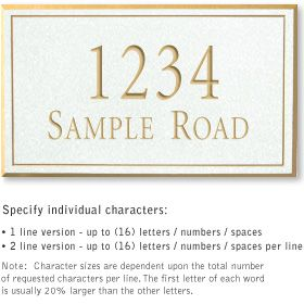 Salsbury 1411WGNS Signature Series Address Plaque