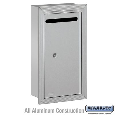 Salsbury 2265AP Slim Letter Box - Recessed Mounted - Aluminum - Private Access
