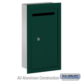 Salsbury 2265GP Slim Letter Box - Recessed Mounted - Green - Private Access