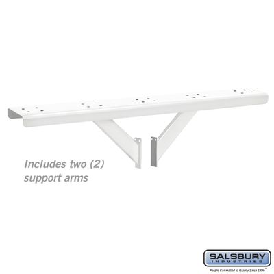 Salsbury 4885WHT Spreader - 5 Wide with 2 Supporting Arms - White