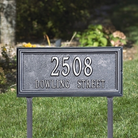 Springfield Rectangle - Standard Lawn Address Sign - Two Line