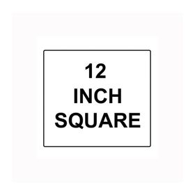 """Square Sign Reflective Faceplate 12"""""""