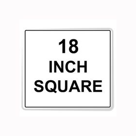 """Square Sign Reflective Faceplate 18"""""""