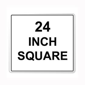 """Square Sign Reflective Faceplate 24"""""""