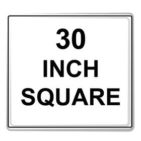 """Square Sign Reflective Faceplate 30"""""""